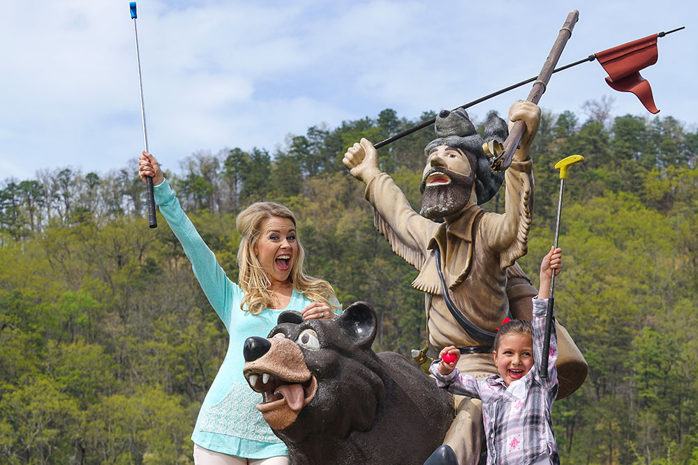Ripley's Davy Crockett Mini-Golf (Slider Image 1) | Gatlinburg Attractions
