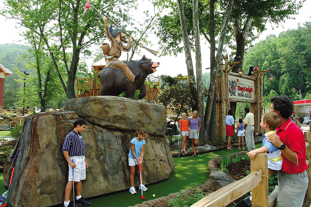 Ripley's Davy Crockett Mini-Golf (Slider Image 5) | Gatlinburg Attractions