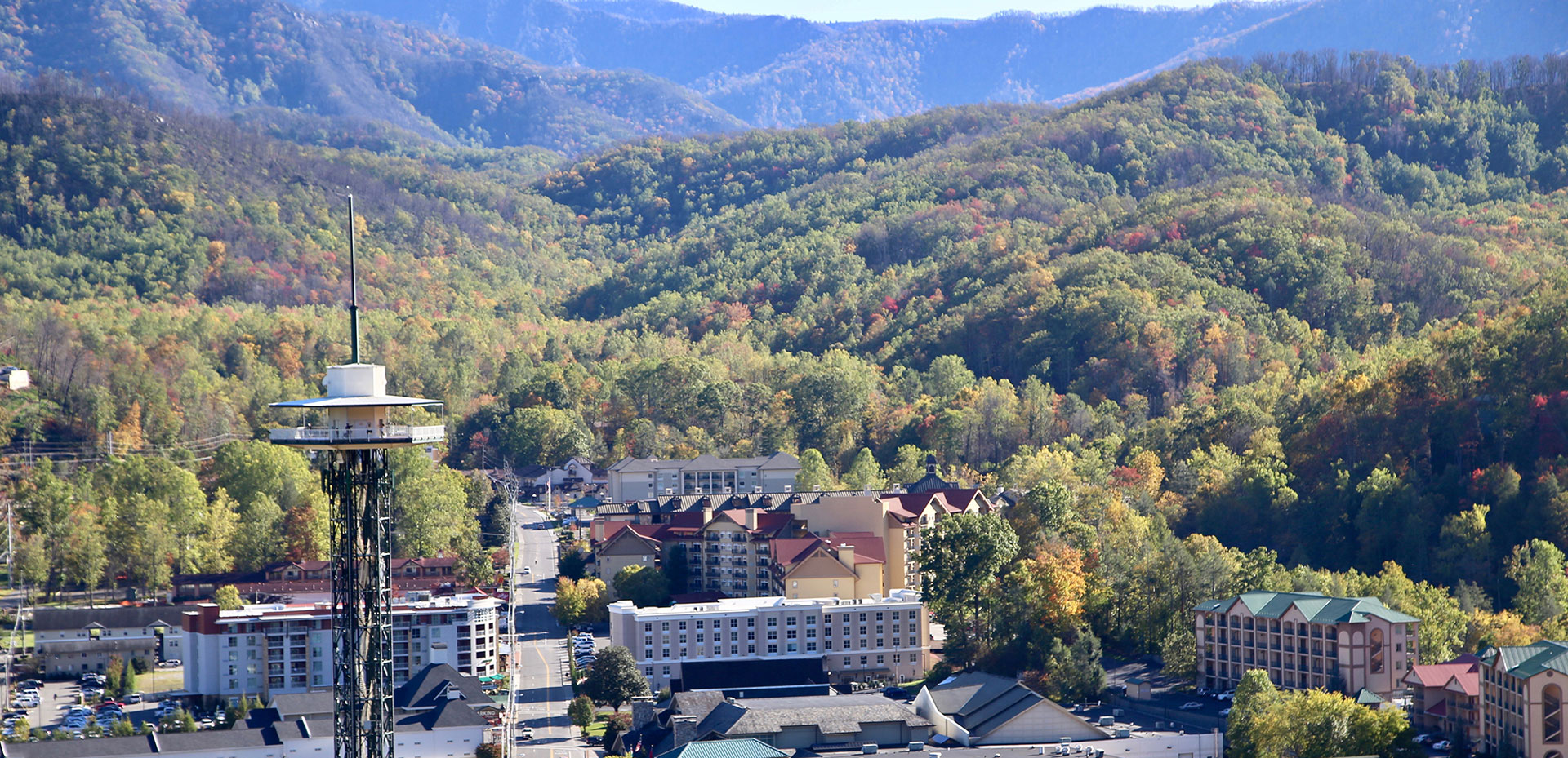 The Space Needle Viewed from the SkyLift | Gatlinburg Attractions | Things To Do In Gatlinburg, TN