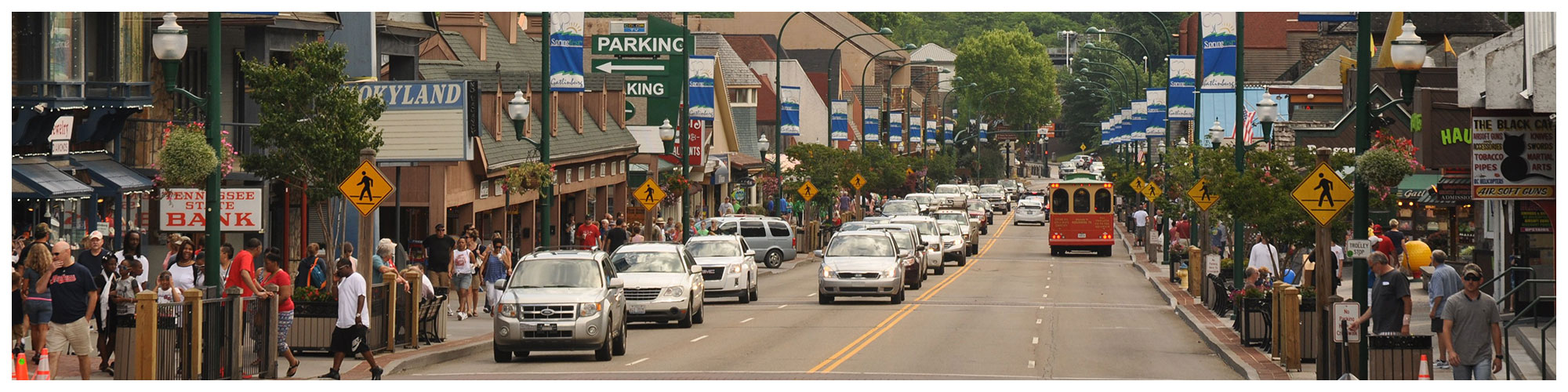 Parking Map (Header Background) | Gatlinburg Attractions