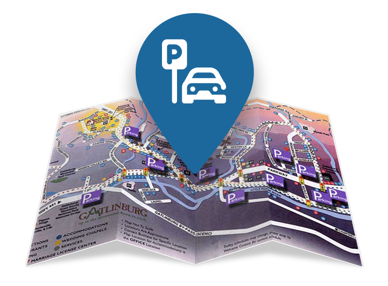 Parking Map Graphic | Gatlinburg Attractions