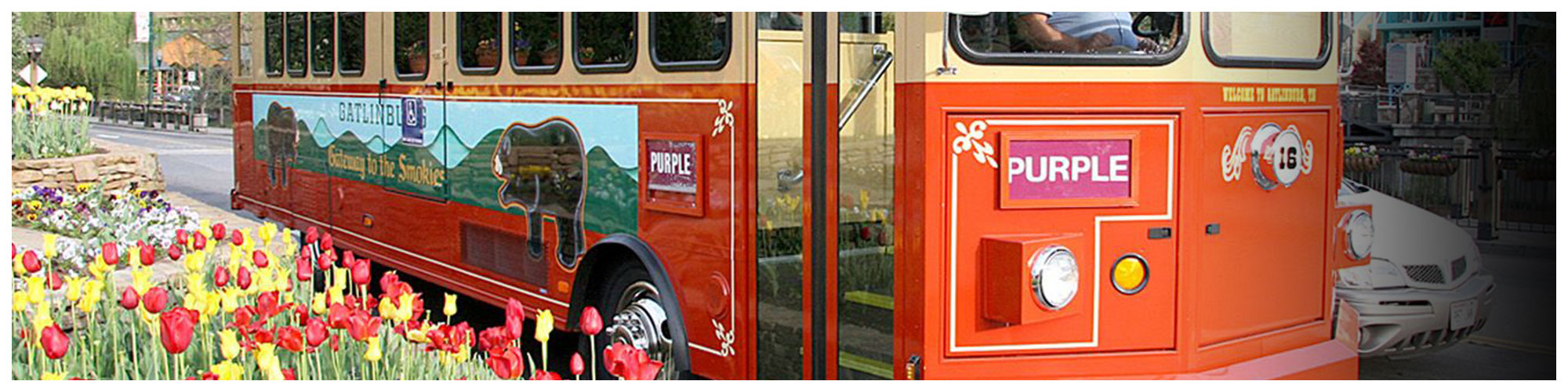 Trolley Routes Map (Header Background) | Gatlinburg Attractions