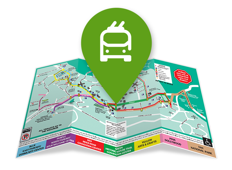 Trolley Map Graphic | Gatlinburg Attractions